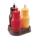 Sauce Bottle Red Plastic 33cl