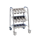 Cutlery Trolley 3 Containers - S/Steel Frame