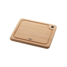 Natural Beech Hardwood Chopping Board, 27 x 22.5cm