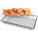 Display Basket Black Wire Oblong 45 x 15 x 5cm