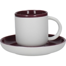 300ml Coffee Cup And Saucer Plum