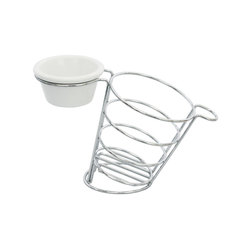 Meranda side basket w/ 2/3oz ramekin holder