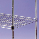 Chrome Wire Shelves 4 Tier 1200mm x 400mm