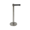 Black Belt Barrier Stainless Steel Post 2m