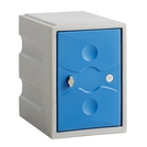1 Door Plastic Locker Grey with Blue Door