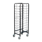 Tray Clearing Trolley 1 x 12 Tray - Black Frame