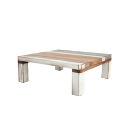 Drift Wood Square Table Grey And White Acacia