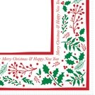 Jolly Holly Napkin 40CM 2 Ply