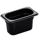 Gastronorm Container Poly 1/9 100mm Black