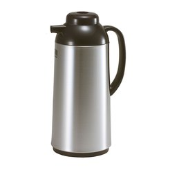 Brushed Stainless Steel One Touch Vacuum Flask 1ltr