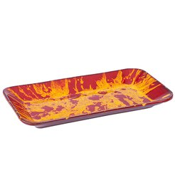 Manoli Speckle Oblong Platter Red & Yellow Speckle