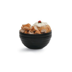 Black Round Insulated Serving Bowl 3.2 Litre