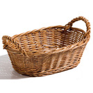 Display Basket Oval 30 x 20 x 10cm With Handles