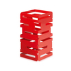 12in Sq Riser Red Multi Level