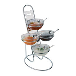 Buffet Display Stand With 4 Glass Bowls