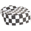 Brigade Skull Cap Large Black & White Check