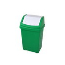 50l Plastic Swing Top Bin Green