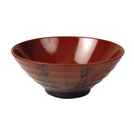 Terracotta/Black Melamine Earth Funnel Bowl