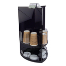 Coffee Cups & Lids Stand Acrylic Black
