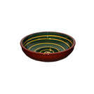Manoli Bowl Green With Yellow Swirl 20cm
