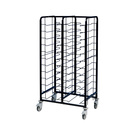 Tray Clearing Trolley 2 x 12 Tray - Black Frame