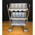 Cutlery Trolley 2 Containers - S/Steel Frame