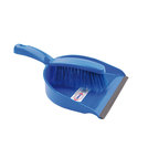 Dustpan And Brush Set Stiff Brush Blue