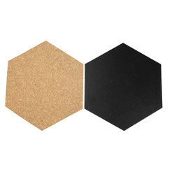 Securit Hexagon Cork & Chalkboards