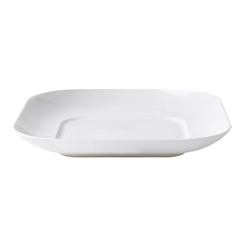 Loop Coupe Bowl Square White 25 X 25cm