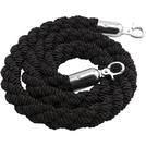 Barrier Rope Chrome Fittings Black 1.5m