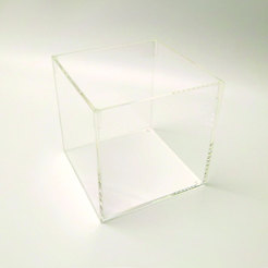 Clear Acrylic 5 Sided Display Cube 15 x 15cm