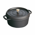 Casserole Black Cast Iron Round 80cl 14cm