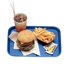 Tray Fast Food Blue Oblong Poly 34.5 x 26.5cm