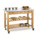 Lambourn 3 Drawer Trolley with Stainless Steel Top