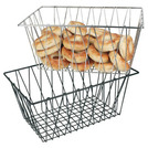 Display Basket Black Wire Oblong 45 x 30 x 20cm
