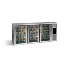 Gamko E3/222GMUCS 3 Glass Door Bottle Cooler S/Steel