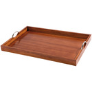 Handled Butlers Tray Mahogany Oblong 60 x 40cm