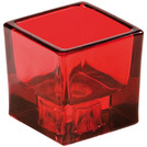 Tealight Holder Sq Reversible Red