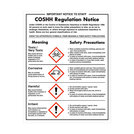 Warning Sign COSHH Regulation Notice