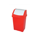 50l Plastic Swing Top Bin Red