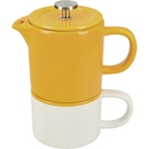 Coffee For One Mustard Mug 250ml Cafetiere 400ml