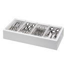 White Deliserve Cutlery Box - 605 x 295 x 130mm