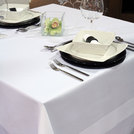 Tablecloth White Cotton Satin Band 70 x 70 inch