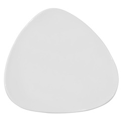 Lotus Plate Triangular White 19.2cm
