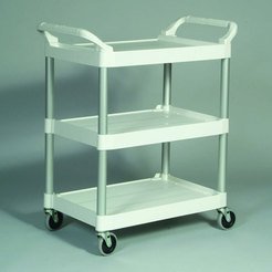 Rubbermaid Trolley 3 Tier White Frame