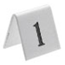 Tent Table Numbers Black On White 1 To 25 5x5cm