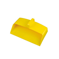 Dustpan Enclosed Yellow Plastic