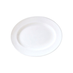 Monaco Vogue Plate Oval White 28cm