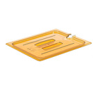 Gastronorm Notched Lid High Heat Poly 1/2 Amber