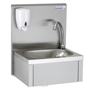 Knee Operated Hand Wash Basin w.Upstand + Soap Disp